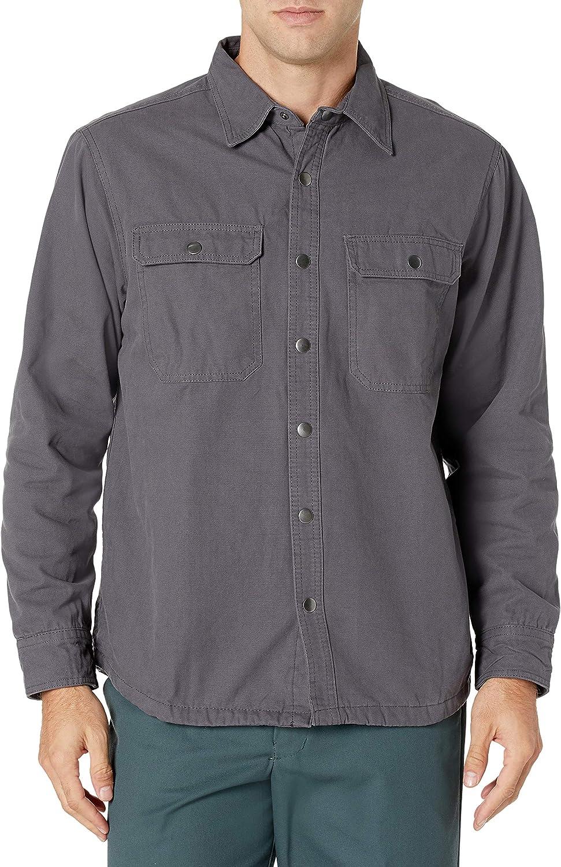 Bass Creek Outfitters Men's Duck Canvas Fleece Lined Shirt Jacket