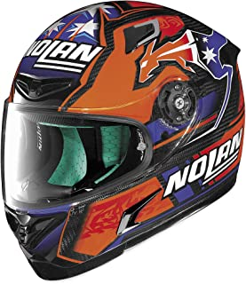 X-Lite X-802RR Ultra Carbon Helmet - Stoner (LARGE) (BLUE/ORANGE)