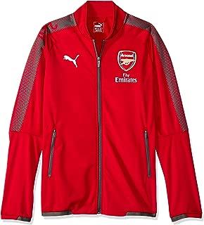 PUMA Arsenal Stadium Jacket 2017/18 (Red)-Medium Adults