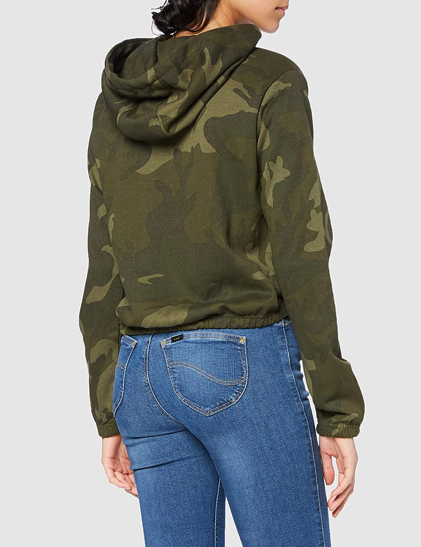 Urban Classics Ladies Camo Cropped Hoody Sudadera con capucha Mujer