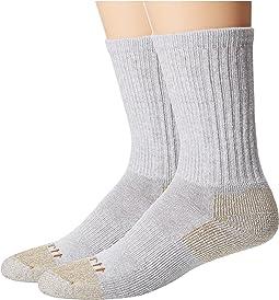 All-Season Steel Toe Cotton Crew Work Socks 2-Pack
