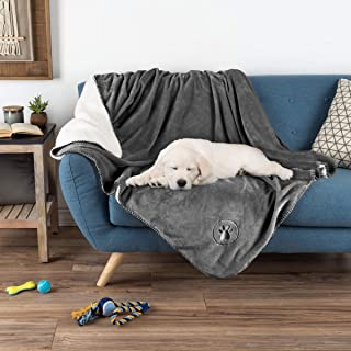 PETMAKER Waterproof Pet Blanket – 60inX50in Soft Plush Throw Protects Couch, Chair, Car, Bed From Spills, Stains Or Fur-Ma...