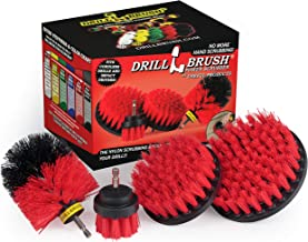 Stiff Bristle 4 Piece Drill Brush Nylon Cordless Drill Powered Spinning Brush Heavy Duty Scrubbing by Drillbrush