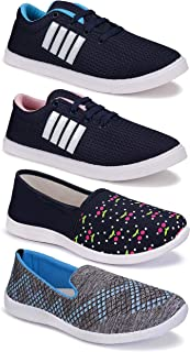 Shoefly Women's (5045-9236-9237-1451) Multicolor Casual Sports Running Shoes (Set of 4 Pair)