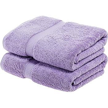 Superior - Juego de Toallas de baño de algodón de 900 g/m2, Color Morado, 2 Piezas: Amazon.es: Hogar