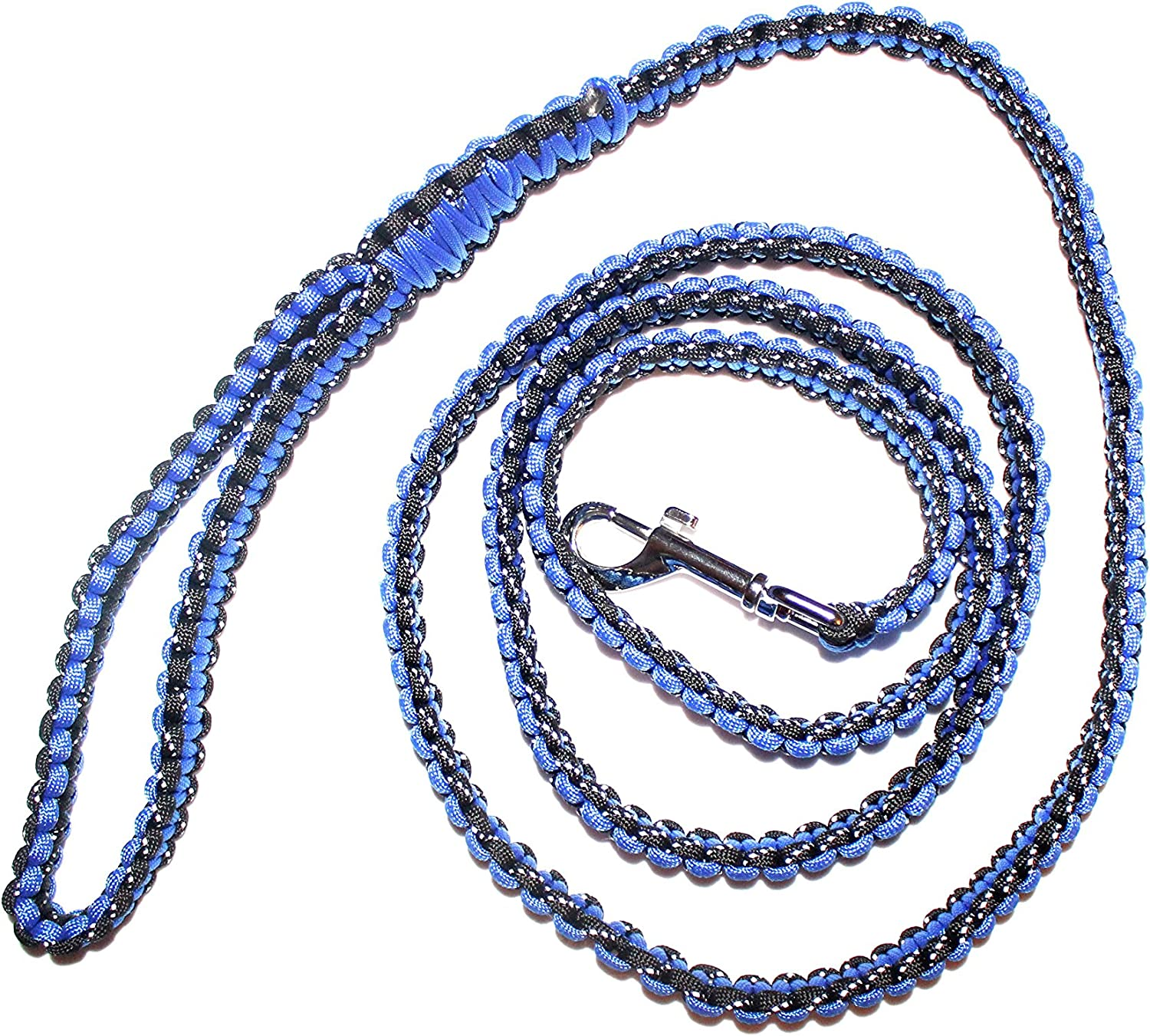 Lucky Spot 6 Foot Paracord Dog Leash (bluee)