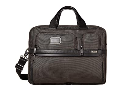 Tumi Alpha 3 Expandable Organizer Laptop Brief (Coffee) Luggage