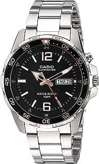 Men's Super Illuminator Quartz Watch with Stainless-Steel Strap, Silver, 21 (Model: MTD-1079D-1A3VCF)