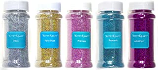 KittyKraft 5 Piece Extra Fine Glitter Set (Holographic Collection)- Includes Silver, Gold, Pink, Blue, and Purple Holographic Glitter- Perfect for Crafts and Slime