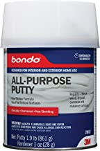 Bondo All-Purpose Putty, Designed for Interior and Exterior Home Use, Paintable, Permanent, Non-Shrinking, 1 Quart