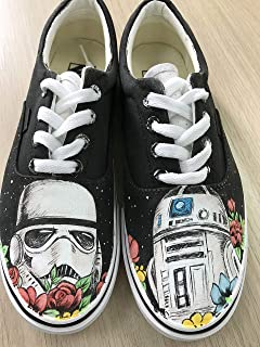 e92aeabe018172 Star Wars Custom Vans Authentic Custom Shoes Vans Authentic Custom Hand  Painted Shoes Hand Painted Vans