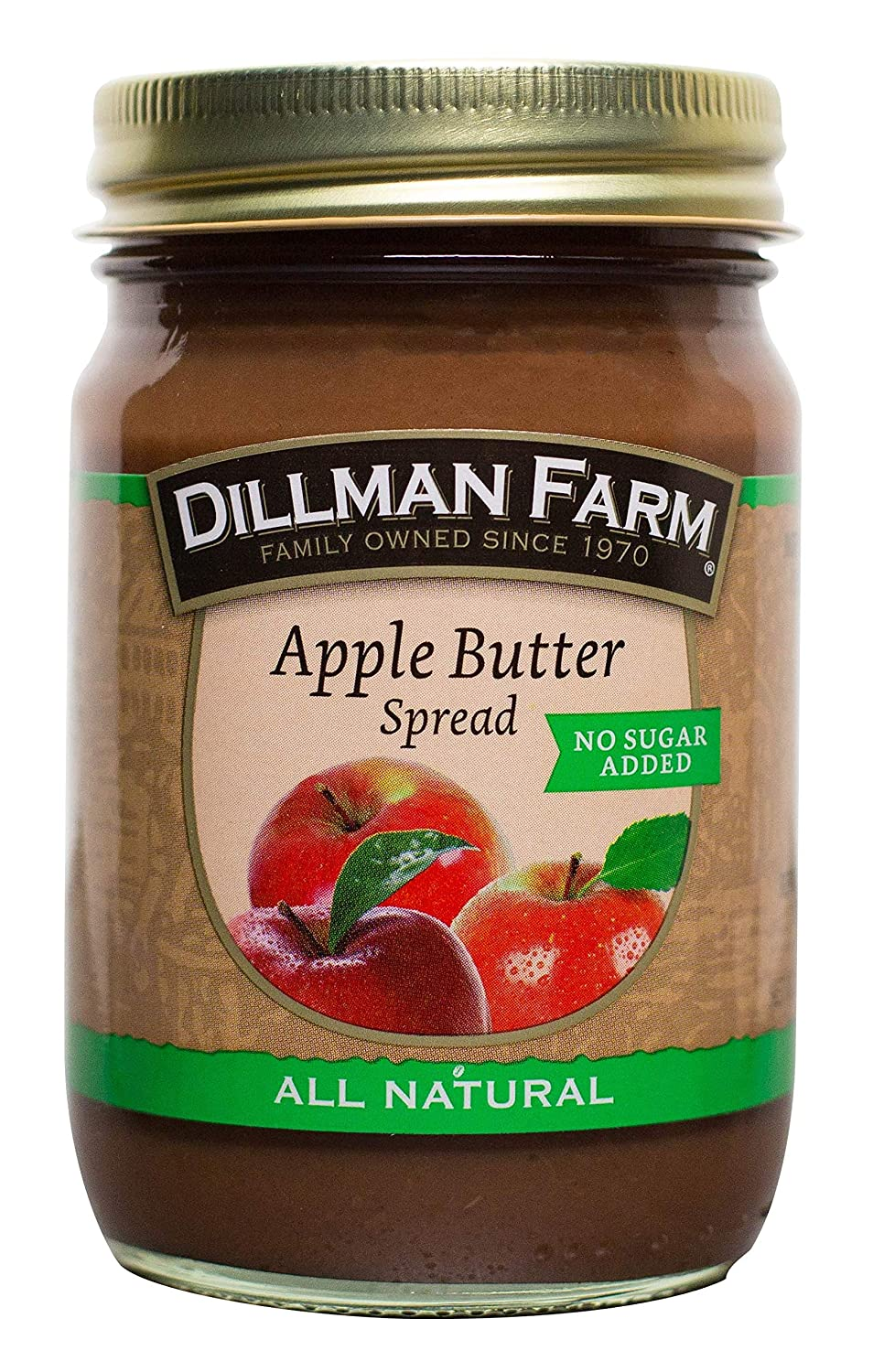 Dillman Farm All Natural No Sugar Added Apple Butter, 13oz (Pack of 6)