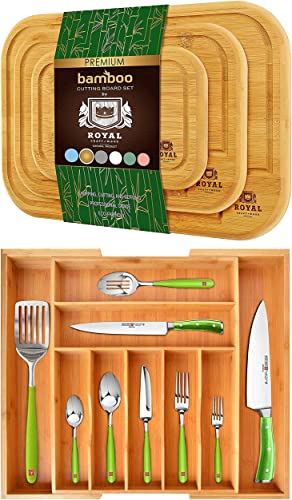 lowest Cutting online Board Set outlet online sale of 3 and Silverware Drawer Organizer online