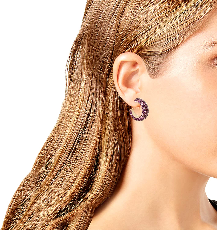 Jessica Simpson Pave Hoop Earrings, light purple (336291GLD500)