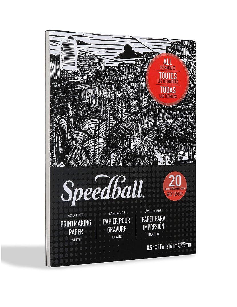 Speedball 7080 Printmaking Paper Pad, White