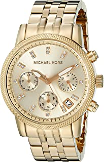 Michael Kors Womens Quartz Watch, Chronograph Display and Stainless Steel Strap MK5676
