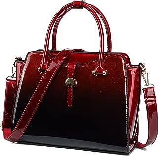Purses and Handbags for Women Glitter Patent Leather Satchel Handbags
