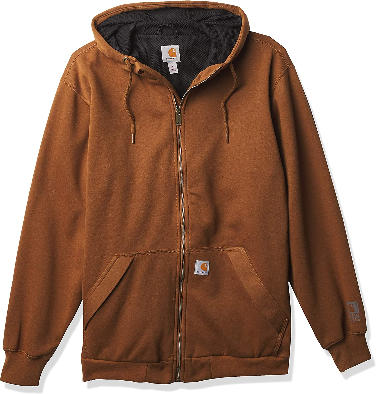 Carhartt Men's Rain Defender Loose Fit Midweight Thermal-Lined Full-Zip Sweatshirt