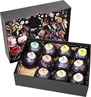 Grace & Stella Bath Bombs Variety Gift Set of 12 XL Assorted Fizzies (120g) - Individually Wrapped Bath Bal...
