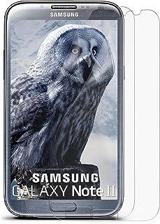 2x OneFlow Lámina de protección antirreflejos para Samsung Galaxy Note 2 Lámina protectora mate | El mejor ajuste y la protección óptima (diseñada más pequeña que la pantalla, ya que esta es curva)