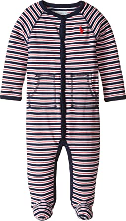 Ralph Lauren Baby - YD Interlock Stripe Coveralls (Infant)