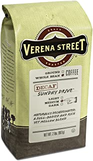 Verena Street 2 Pound Whole Bean, Swiss Water Process Decaf Beans, Sunday Drive..