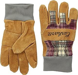 Women's Suede Work-Knit Gloves