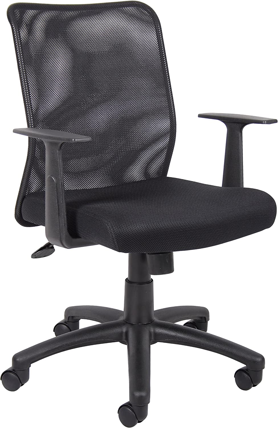Boss Budget Mesh Task Chair W  T-Arms