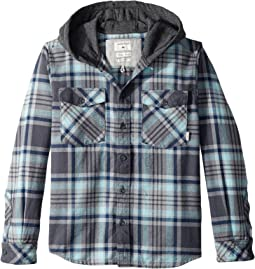Quiksilver Kids - Hooded Tang Long Sleeve Shirt (Big Kids)