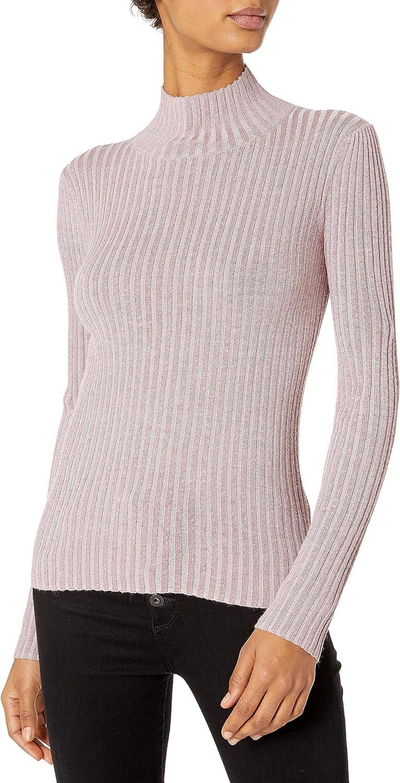 Rebecca Taylor Women's Lurex Rib Turtleneck Pullover