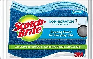 Scotch-Brite Multi-Purpose Scrub Sponge, Blue, Pack of 3 520-3pc