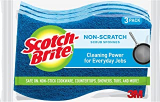 Scotch-Brite Multi-Purpose Scrub Sponge, Blue, Pack of 3 520-3pc