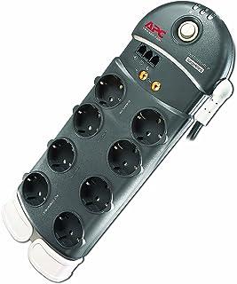 APC Surge Protector   Steckdosenleiste mit Überspannungsschutz   8 fach Stecker Schuko, schaltbar, kompatibel zu PowerLine Adaptern   Farbe: anthrazit   PL8VT3 DE