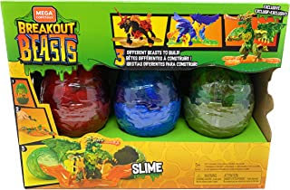 Breakout Beasts Mega Construx Slime - 3 Different Beasts - Multicolor