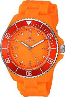 Seapro SP7415 Bubble Analog Display Swiss Quartz Orange Watch for Women