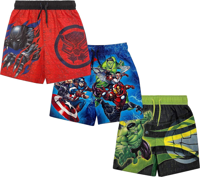 Marvel Avengers Black Panther Captain America Iron Man Hulk Thor Swim Trunks