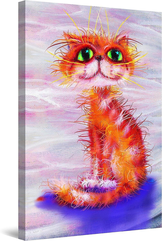 Startonight 新着 Canvas Wall Art 税込 Abstract - for Cat Chi Thomas Orange