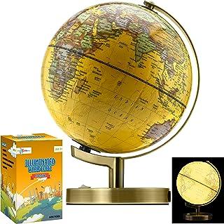چاق کوچک کوچک 15 اینچ (قطر 12 اینچی) LED Globe World Globe برای کودکان و نوجوانان