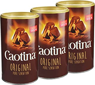 Caotina original, Cocoa Powder with Swiss Chocolate, Hot Chocolate, 3 Pack, 3 x 500g