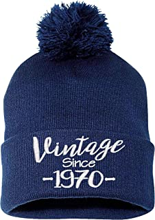 Sponsored Ad - 50th Birthday Gift, Vintage Aged to be Perfected Since 1970, Warm Pom Pom Beanie Hat