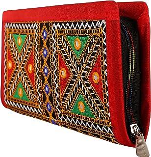 محفظة يد بمقبض مطرز من كرافت تريد حقيبة يد بتصميم راجستان يدوي الصنع للنساء / الفتيات