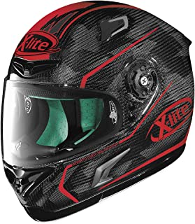 X-Lite X-802RR Ultra Carbon Helmet - Marquetry (MEDIUM) (CARBON/RED)