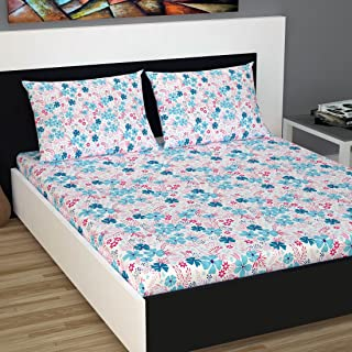 Divine Casa Cotton 144TC Bedsheet (Standard_Brown;Off White)