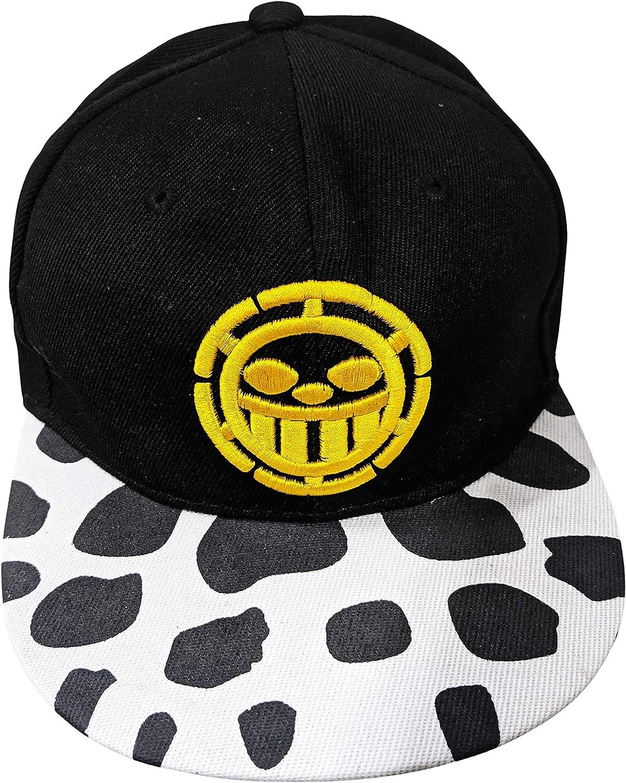 Trafalgar Law Skull Head Baseball Cap One Piece Hat Anime Face Logo Cosplay Gift
