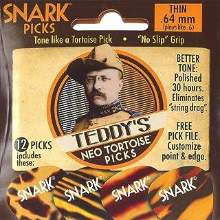 Snark 0.64 mm SP64NT Teddys Neo Tortoise Picks (Pack of 12)