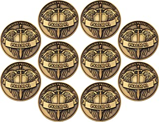 Psalm 91, Bulk Pack of 10, God is My Protection Challenge Coin, Pocket Token of Safety and Protection, Gift for Soldiers, ...