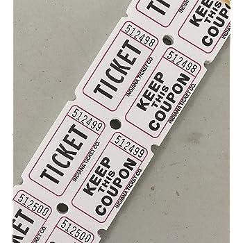 Raffle Tickets 2,000 Double Stub Raffle Tickets