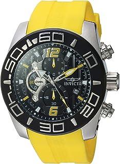 ساعت مچی کوارتز از جنس استنلس استیل مردانه Invicta با استفاده از تسمه سیلیکون ، زرد ، 26 (مدل: 22808)