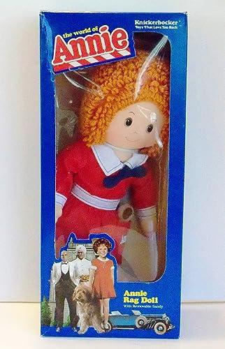 LITTLE ORPHAN ANNIE RAG DOLL 16  Tall w Removable SANDY Dog The World of Annie (1982 Knickerbocker) by The World of Annie Annie Rag Doll with Removable Sandy