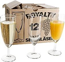 Van Well 120er Set Sektglas Royalty Standard, 18 cl, Ø 50 mm, H 160 mm, Sektflöte, Kelchglas, Champagner-u. Prosecco-Glas, Partyglas, glasklar, Gastronomie